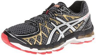 ASICS Men's Gel Kayano 20 Running Shoe,Black/White/Gold,10 M US