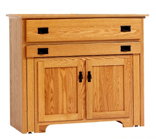 Buy Low Price Amish Furniture House Amish Usa Made Mission Console Buffet With Pullout Table