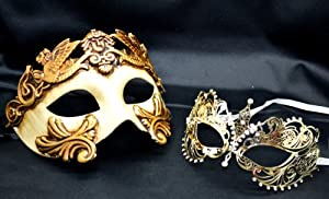 Amazon.com : New Couple Lover Mask Gold Egyptian + Gold ...