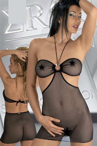 EROS VENEZIANI Minikleid (schwarz )