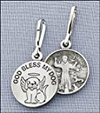 GOD BLESS MY DOG - Saint Francis Charm, Tag - with PRAYER CARD, from Fantasy Farm