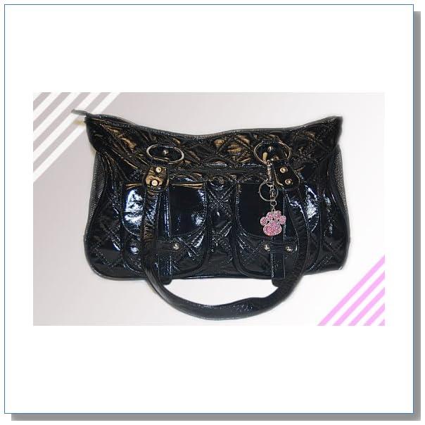 Dog Cat Faux-Leather Handbag Pet Carrier - Large
