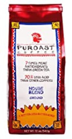 Puroast Low Acid Coffee House Blend Drip Grind, 0.75-Pound Bag (Pack of 2)