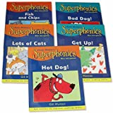 Superphonics Blue Reading Collection 5 Books Level 1 Pack Set RRP £17.50 (Get Up!, Bad Dog!, Hot Dog!, Lots of Cats, Fish and Chips) (Superphonics Blue)