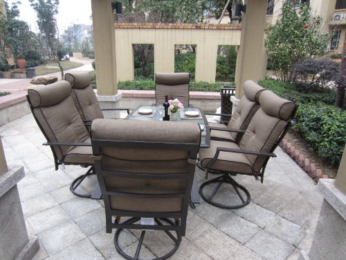 outdoor patio dining sets clearance Patio Sets Clearance: 7pc Ravello Outdoor Patio Dining Set