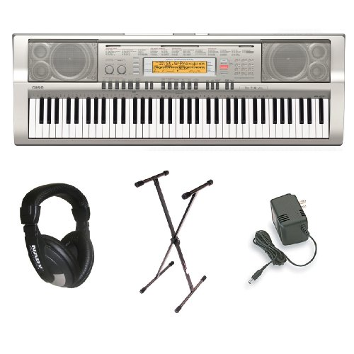 Casio WK-200 76-Key Personal Keyboard Package with Stand, Headphones and Power Supply