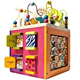 New Toy Zany Zoo Wooden Activity Cube
