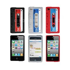 3pcs Classic Cassette Tape Silicone Case for Iphone 4 4g