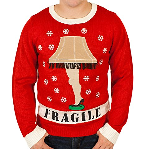 'A Christmas Story' Lighted Leg Lamp Christmas Sweater in Red By Festified
