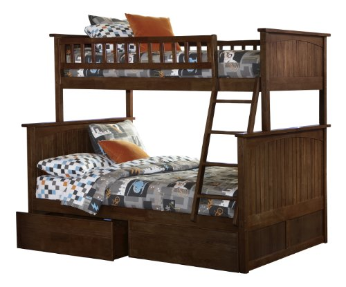 Daily Real Estate, Mortgage, Loans,(VIDEO Review) Nantucket Bunk Bed with 2 Flat Panel Bed Drawers, Twin Over Full, Antique Walnut,
