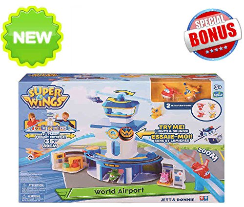 Super Wings of Sprout TV- World Airport Play set – Jett and Donnie INCLUDED plus a FREE EXCLUSIVE SURPRISE!
