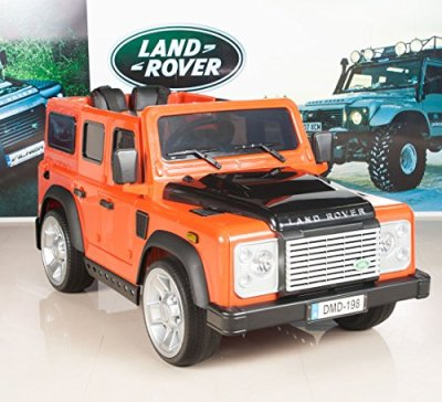 12V-Kids-Ride-On-TruckCar-Land-Rover-Defender-Battery-Powered-Wheels-with-RC-Remote-Control-Orange