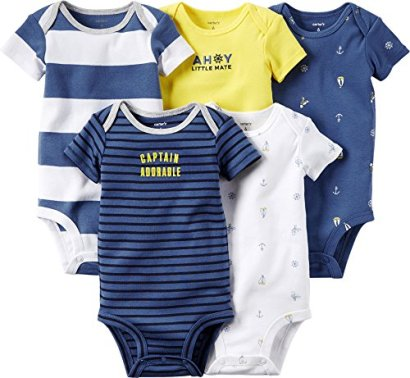 Carters-Baby-Boy-5-Pack-Short-Sleeve-Bodysuits-Multiple-Styles-and-Sizes