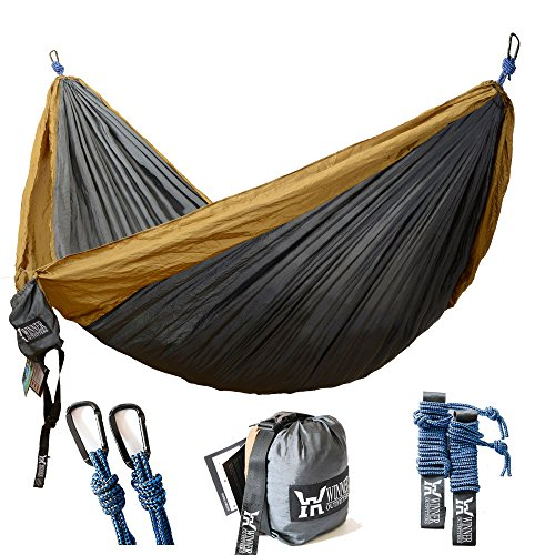 winner outfitters double camping hammock lightweight nylon portable  winner outfitters double camping hammock   lightweight nylon      rh   backpackingmall