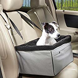 Jespet Travel Animals Pet Booster Seat Dog Cat Small Animal Lookout Car Carrier, Pet up to 28lbs