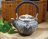999 Pure silver teapots with carving and good quality
