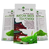 Matcha Green Tea Powder by Organic Wise-4 oz of Japanese Culinary Grade,AntiOxidant Powerhouse, Certified Organic By the Colorado Department of Agriculture and Packed in the USA-NOT from China