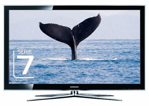Samsung LE40C750 101 cm (40 Zoll) LCD-Fernseher (3D Technologie, Full HD, 200Hz, DVB-T/-C ) mit 3D-Brille  perlschwarz