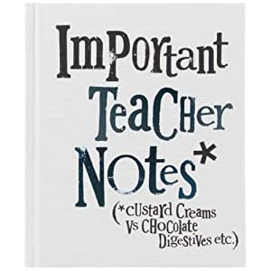 Bright Side Important Teacher Notes Book - Custard Creams ...