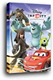 Disney Infinity Poster als Blockbild - Jack Sparrow, Davy Jones, Mike, Sulley, Lightning (91 x 61cm)