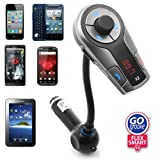 GOgroove Flexsmart X2 Advanced Wireless In-Car Bluetooth FM Transmitter with Charging, Music Control and Hands-Free Calling Capability for Android, iPhone, Blackberry and Windows Smartphones