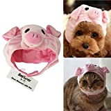 Bro'Bear Pet Hat for Cats & Small Dogs Party Costume Accessory Headwear (Pink Pig, Large)