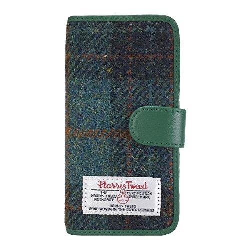 For ドコモ Galaxy S6 edge SC-04G sc-04g ハリスツイード Harris Tweed スマホケース 手帳型 カバー 手帳型ケース 手帳 フリップケース レザー Harris Tweed × jiang Diary Case 03 グリーンチェック