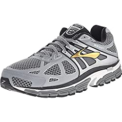 Brooks Men's Beast 14 Silver/Black/Gold Sneaker 10.5 4E - Extra Wide