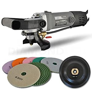 Hardin HWVPOLSET Variable Speed Polisher 4 Inch Granite Marble Wet Polishing Kit