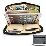 Damai Portable Universal Electronics Accessories Travel Organizer /Ipad Mini Case / Cable Organizer Bag / Makeup Bag (1-grey)