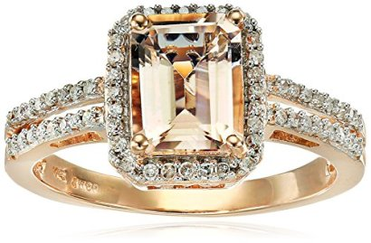 10k-Rose-Gold-Emerald-cut-Morganite-and-Diamond-15cttw-I-J-Color-I2-I3-Clarity-Ring-Size-6