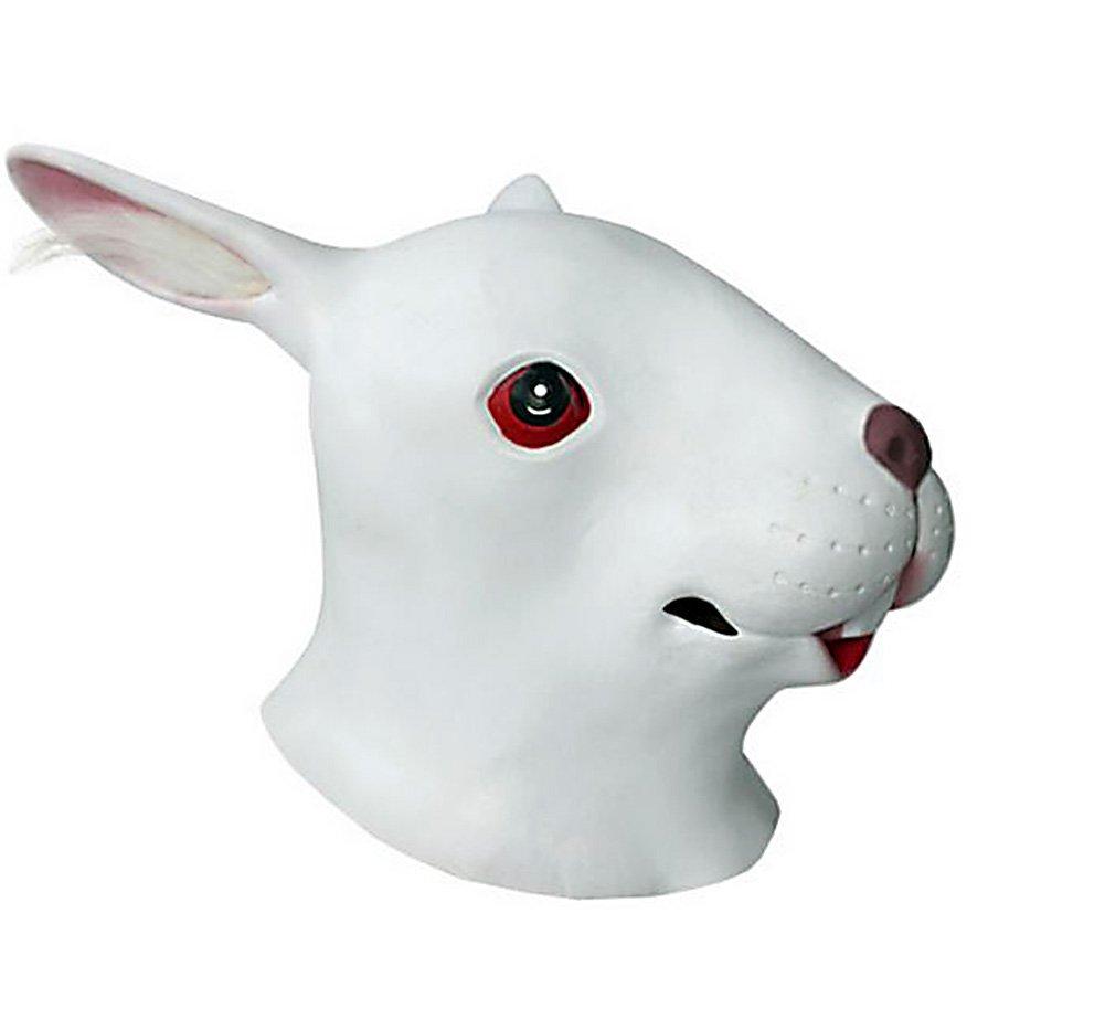White Rabbit Head halloween mask