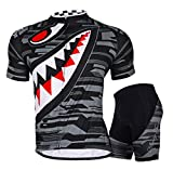 Sponeed Men's Bicycle Jersey Polyester and Lycra Camouflage Cool Biking Asia XL/ US L Gray