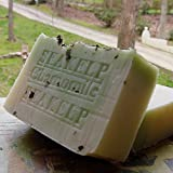 Natural Handcrafted Soap / Organic Bar Soap with Sea Kelp Moss / Chamomile Herb and Cocoa Butter Bath and Shower