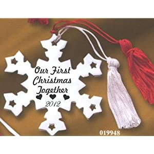 Our First Christmas Together Snowflake Ornament