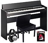 Roland Black F-120 Digital Piano BUNDLE w/ Bench & Headphones