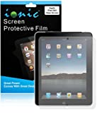 IONIC Screen Protector Film CLEAR (Invisible) for Apple iPad 2, iPad 3, iPad 4, iPad 2nd, iPad 3rd, iPad 4th Generation AT&T Verizon 4G LTE (3-pack)[CrazyOnDigital Retail Package]