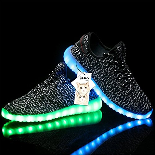 ZERO Brand New Unisex 7 Colours Luminous Light Up Shoes Womens Lace Up Trainers Sportswear Casual Sneakers
