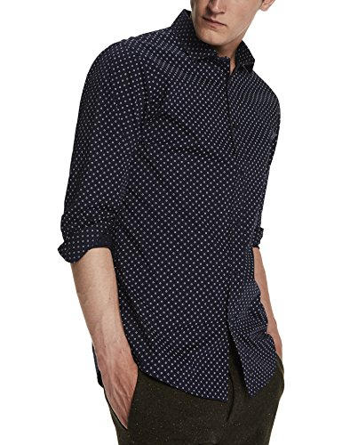 Scotch & Soda Herren Freizeit Hemd Classic Shirt in Cotton/Elastane Quality