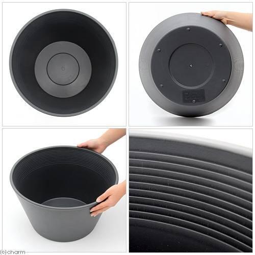 睡蓮鉢(メダカ鉢) グレー 直径44cm 高さ25cm 軽量2kg、割れにくい、頑丈な厚み1.2cm