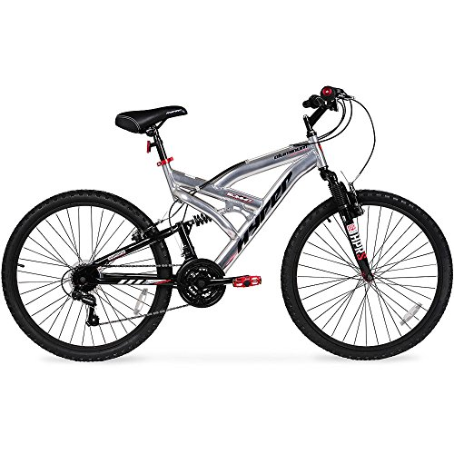 Hyper Summit Men's Mountain Bike, Silver Aluminum Frame Bicycle Shimano Equipped