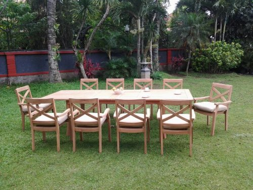 New 11 Pc Luxurious Grade-A Teak Dining Set