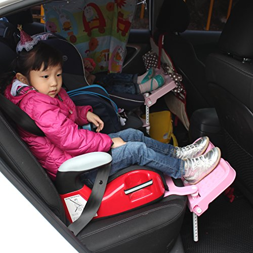 KneeGuardKids II Child Car Seat Footrest And Booster Gray