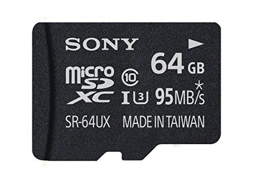 Sony 64GB High Speed Class 10 UHS-1 Micro SDXC up to 95MB/s Memory Card (SR64UXA/TQ)