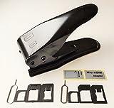 【Amazon出荷】SIMパンチ(micro/nano 対応SIMカッター)iPhone5/iPhone4S/4用 + SIM変換アダプター3点セットが2セット(標準, マイクロ, nano) + SIMリリースピン2本 + SIMシール付?