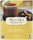 Numi Organic Tea Mini Sampler, Assorted Tea Bags of Traditional Organic Blends, 8 Count Box