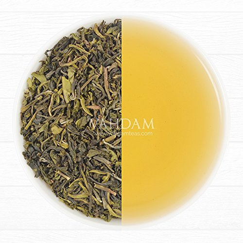 Organic Green Tea Leaves from the Himalayas (50 Cups) - Detox, Cleanse & Weight Loss Tea - POWERFUL NATURAL ANTI-OXIDANTS, 100% Pure Green Tea Sourced from High Elevation Plantations in Darjeeling, Loose Leaf Tea, Packed at Source in India, 3.53oz