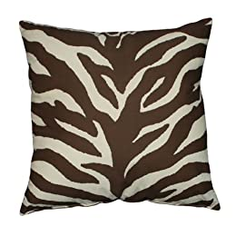 "Product Image Zebra Square Pillow - Brown/Tan (18x18"")"