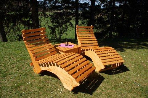 Luxus Relaxliege Massivholzliege Liege Formliege 100cm breit EXTRA LIEGELÄNGE 220cm HÖHE ca. 58cm