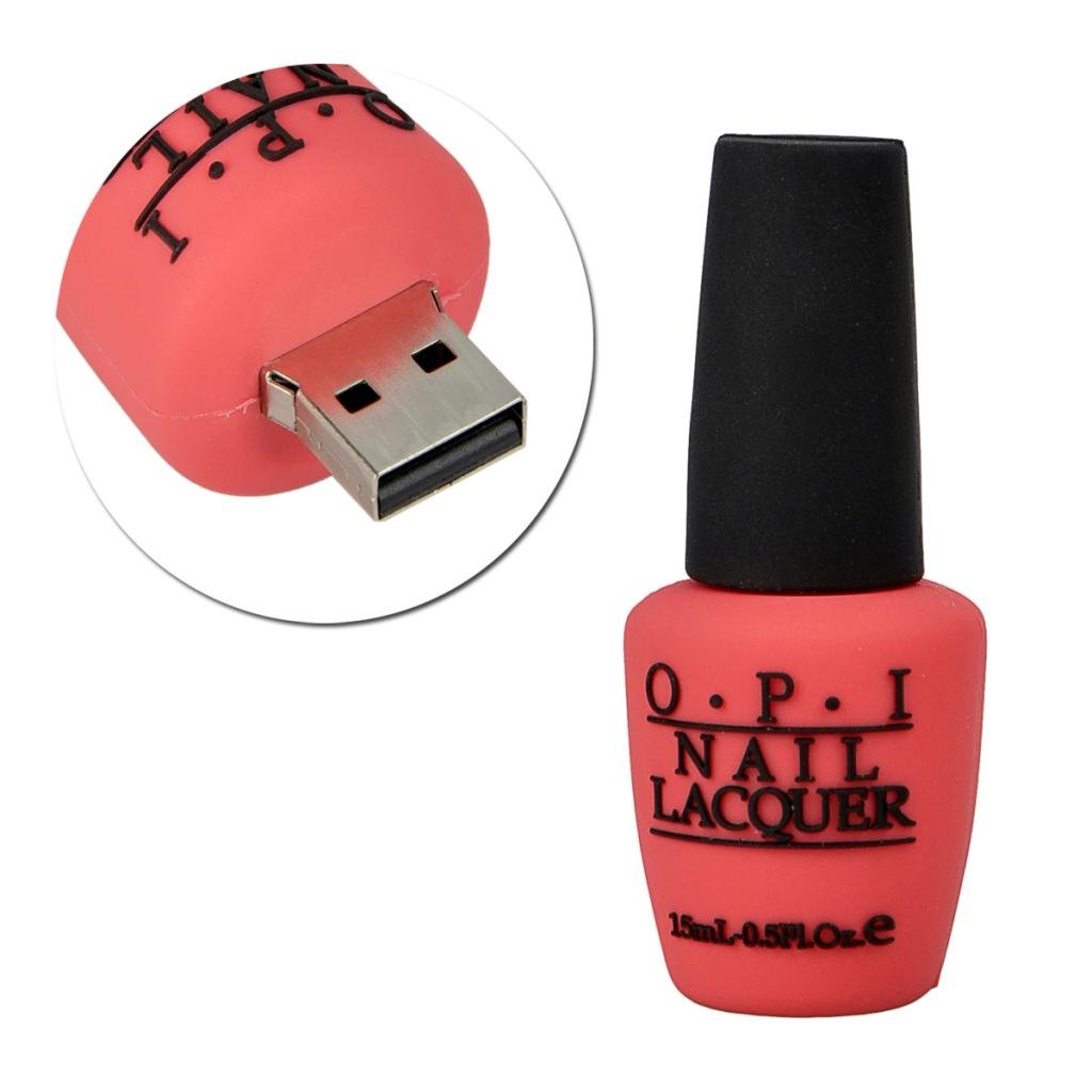 16GB Rose Novelty Nail Polish Bottle Shape USB 2.0 Flash Drive Memory stick Gift USA